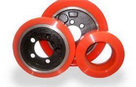 roda empilhadeira com rolamento poliuretano